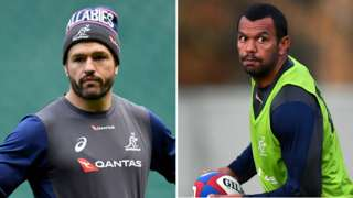 Adam Ashley-Cooper and Kurtley Beale