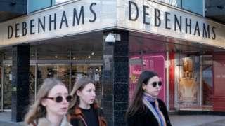 Debenhams shoppers
