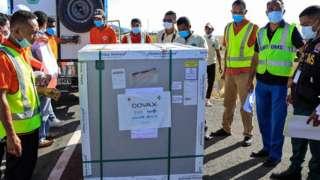 Covax aracılığıyla Doğu Timor'a ulaşan aşılar