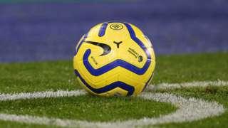 A Premier League ball in the corner