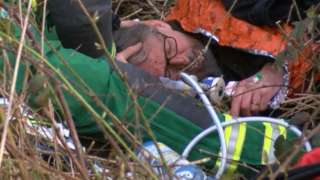 BBC Inside Out footage of Darryl Cunnington after the alleged attack