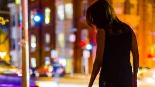 Sex worker on city street