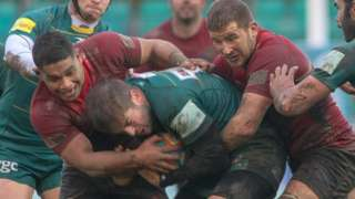 Cornish Pirates v London Irish in the Championship Cup