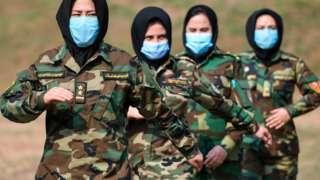 ভারতের চেন্নাইতে প্রশিক্ষণ নিচ্ছে আফগান সেনা বাহিনীর একদল নারী ক্যাডেট, ফেব্রুয়ারি, ২০২১