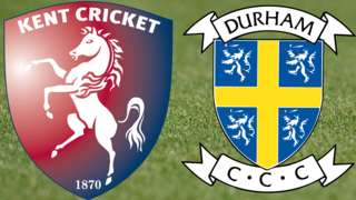 Kent v Durham badges