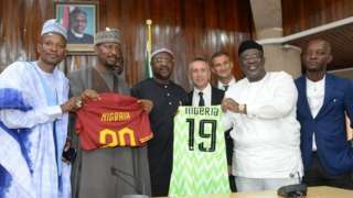 NFF officials with Roma officials