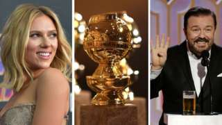 Scarlett Johansson, a Golden Globe Award and Ricky Gervais