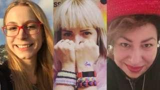 Three intersex women