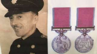 John Jenkins and his medals