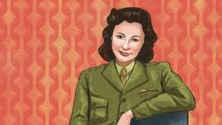 Una ilustración de Nancy Wake, espía australiana.