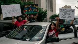 Протесты в Бруклине, Нью-Йорк, 2 июня 2020 г