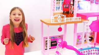 Ava and the Barbie house