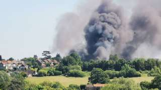 Fire at Bromham in Wiltshire