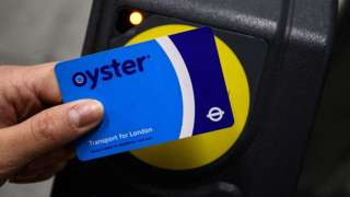 Oyster card being used at London Underground