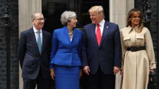 Philip May, Theresa May, Donald Trump and Melania Trump