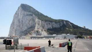The famous rock of Gibraltar