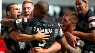Hull FC celebrate try