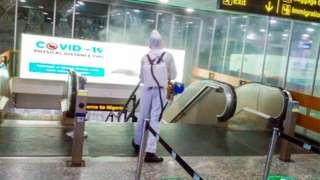 Murtala Muhammed International Airport, lagos fumigation ahead of re-opening.