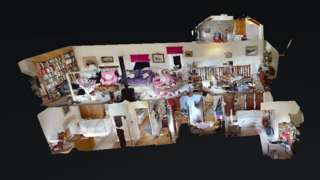 Viewers could select a room of the house to explore