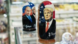 матрешки с Путиным и Трампом