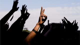 hands in the air at a generic musivc festival