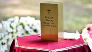 Ashes containing Zsa Zsa Gabor