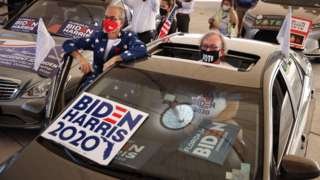 Supporters of Joe Biden at a Florida rally