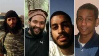 Mohammed Emwazi, Aine Davis, Alexanda Kotey ati El Shafee Elsheikh