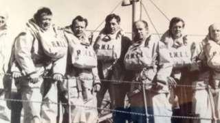 David Brunton and his fellow crew members
