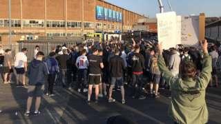 Protest at Eland Road