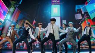 BTS perform at the MTV Video Music Awards on 31 August in New York