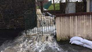 Pentre residents were also affected by Storm Dennis on the weekend