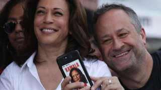 Kamala Harris and Doug Emhoff