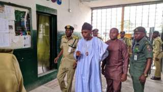 Minister of Interior Rauf Aregbesola land Ikoyi prison to chook eye for di mata