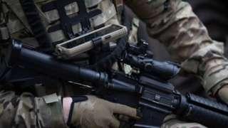 A British Army commando