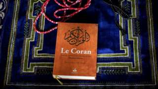 A copy of the Koran in France