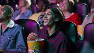 Girl in cinema