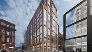 CGI of JPMorgan Chase's planned new technology centre in Glasgow