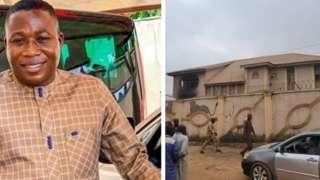 Sunday Igboho and e house wey burn