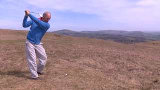 Chris Powell on the course