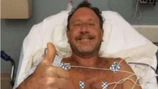 Michael Packard en el hospital, el 11 de junio de 2021