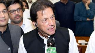 Imran Khan at a session of the National assembly in Islamabad, Pakistan, 17 August 2018