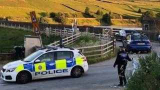 Police at Ponden Reservoir