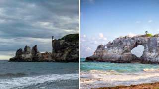 Punta Ventana before and after composite