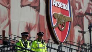 Police outside Emirates Stadium before a game