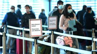File pic of queue at Vienna airport