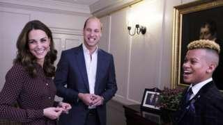 The Duke and Duchess of Cambridge and a teen hero