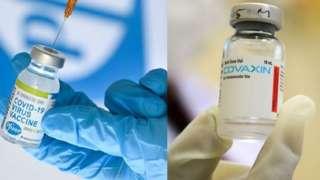 Vacinas Pfizer e Covaxin