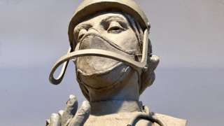 Statue of medic by sculptor Philip Jackson