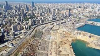 Beirut showing damage
